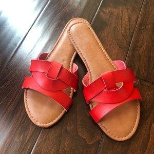 e255ce07ad09 Shoes -    PRICE IS FIRM   Red women sandals slippers
